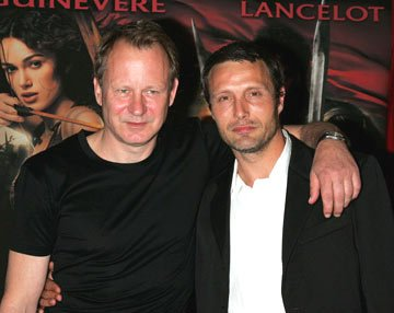 Stellan Skarsgard and Mads Mikkelsen at the New York premiere of Touchstone Pictures' King Arthur