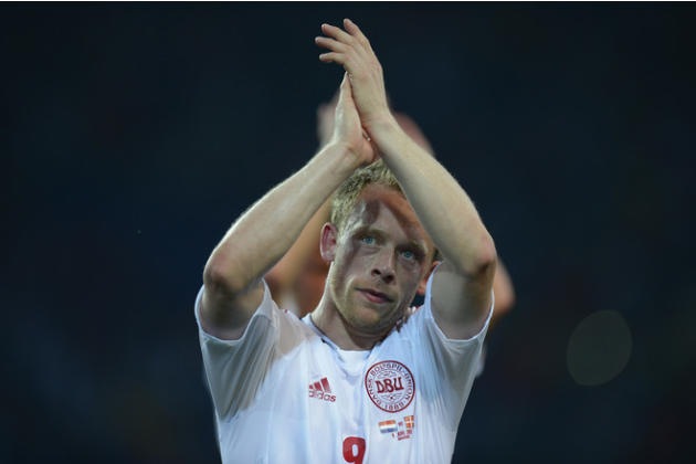 Danish Midfielder Michael Krohn-Dehli Celebrates  AFP/Getty Images