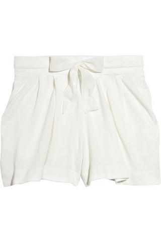 Phillip Lim bow-embellished cotton shorts, $150, at Net-A-Porter