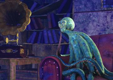 Luca the squid ( Vincent Pastore ) in Dreamworks' Shark Tale