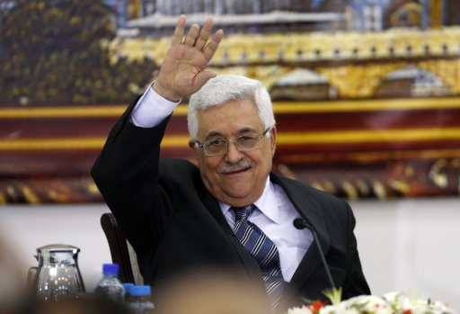 Palestinian President Abbas attends a joint meeting of the PLO executive committee and the Fatah central committee in Ramallah