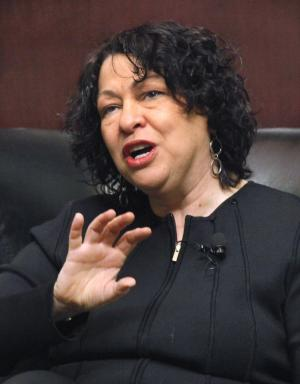 FILE - In this Jan. 31, 2011 file photo, Supreme Court Justice Sonia Sotomayor speaks at the University of Chicago Law School in Chicago.  (AP Photo/Charles Rex Arbogast, File)