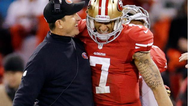 Jim Harbaugh and Colin Kaepernick