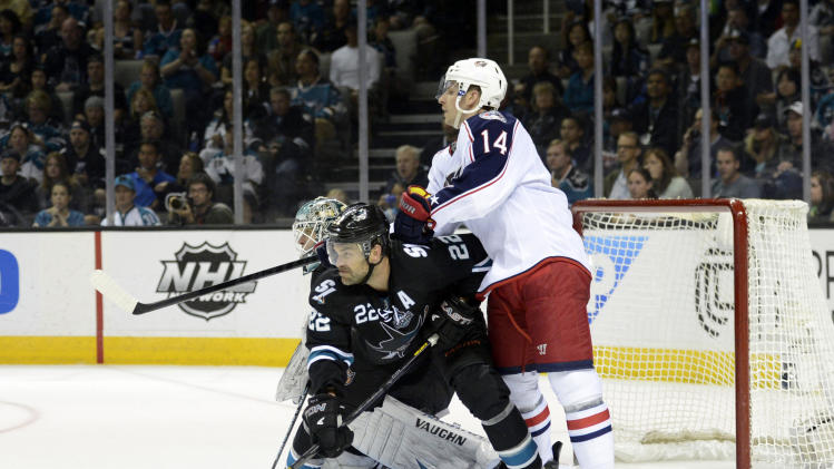 NHL: Columbus Blue Jackets at San Jose Sharks