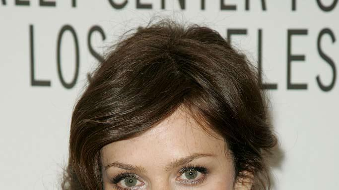 "Anna Friel from the show ""Pushing Daisies"" arrives at the Paley Center for Media's 25th annual Paley Television Festival at the Arclight Cinema on March 15, 2008 in Hollywood, California."