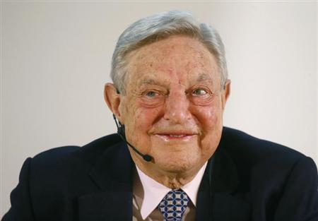 George Soros, Chairman of Soros Fund Management LLC gives speech in Frankfurt