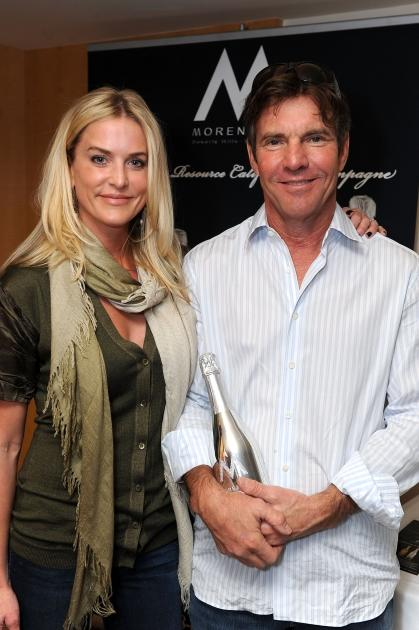 Dennis Quaid and his wife Kimberly Quaid pose at the 2011 DPA Golden Globes Gift Suite at the L'Ermitage Hotel in Beverly Hills, Calif. on January 13, 2011  -- Getty Images