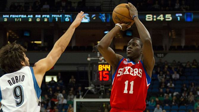 NBA: Philadelphia 76ers at Minnesota Timberwolves