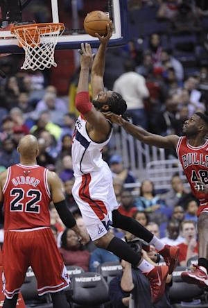 Wall leads Wizards over Bulls 96-93