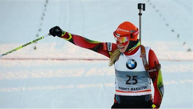 Biathlon - Soukalova completes hat-trick at World Cup finale