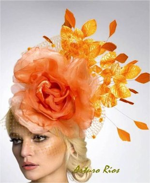 Flowers and Fall Fascinator