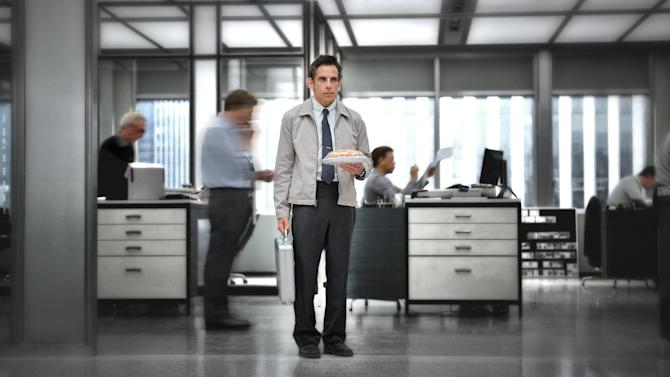 "This film image released by 20th Century Fox shows Ben Stiller in ""The Secret Life of Walter Mitty."" Running Sept. 27 through Oct. 13, the 51st New York Film Festival will feature the world premieres of Paul Greengrass' ""Captain Phillips,"" Spike Jonze's ""Her"" and Ben Stiller's ""The Secret Life of Water Mitty."" (AP Photo/20th Century Fox, Wilson Webb)"