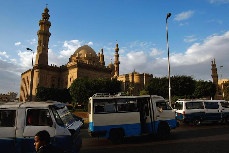 Mosques in Salah ad-Din Square, Cairo, Egypt