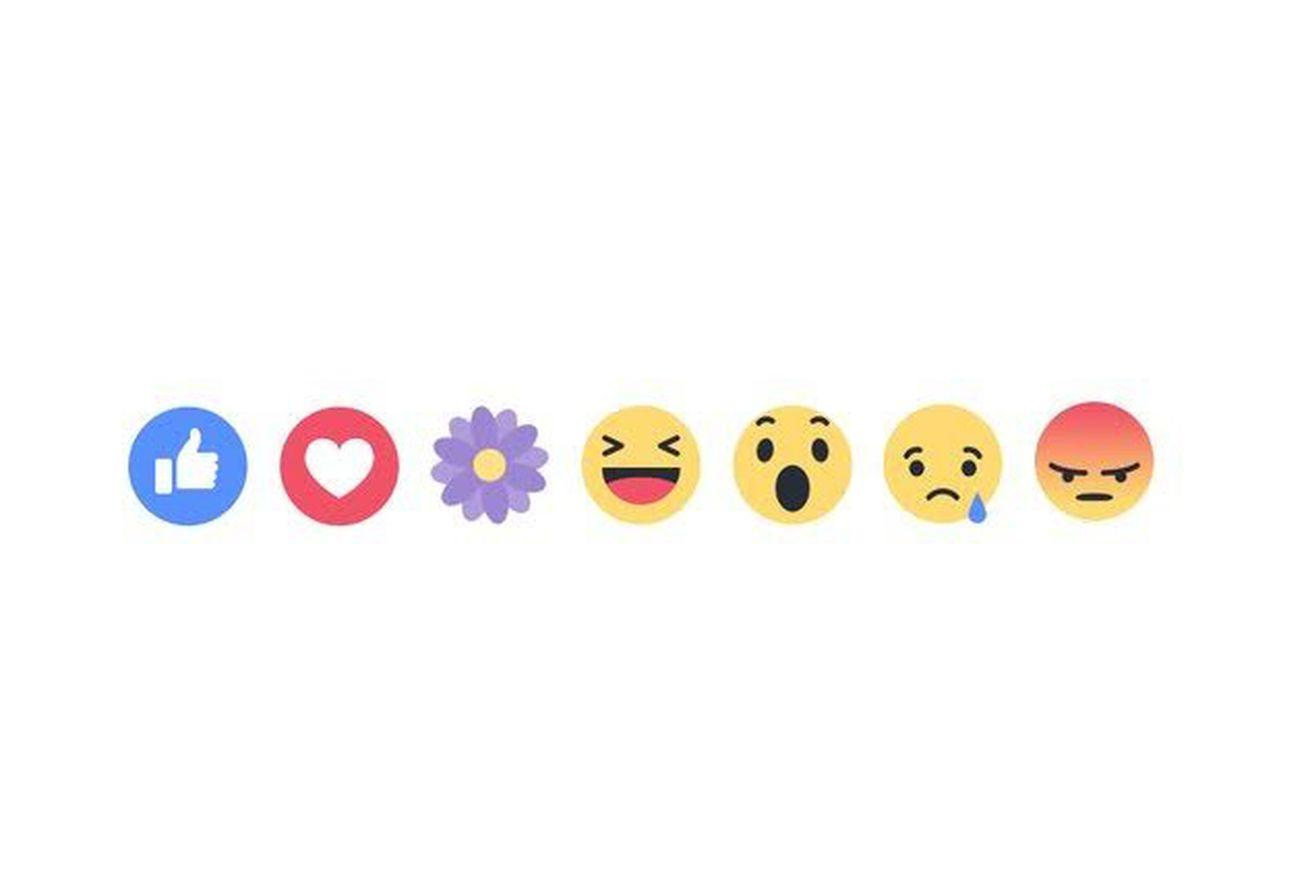 Facebook tests temporary reactions with a flower for Mother's Day