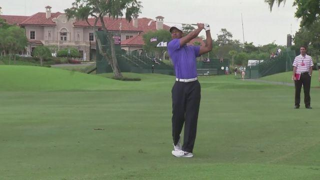 Tiger talks Players Championship and Lindsey Vonn [AMBIENT]