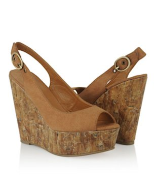 Peep Toe Wedge Slingbacks