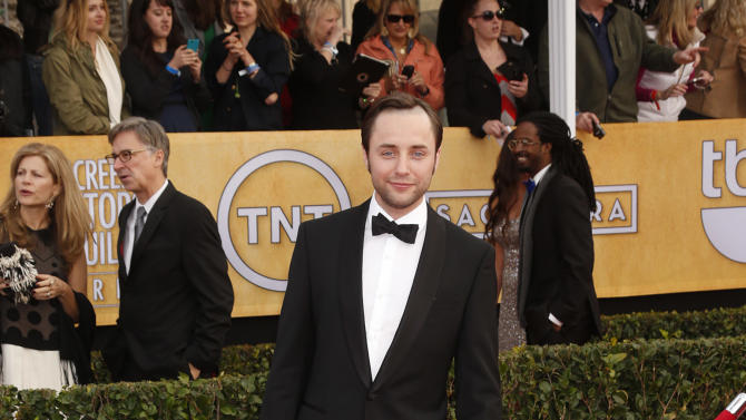 Vincent Kartheiser arrives at the 19th Annual Screen Actors Guild Awards at the Shrine Auditorium in Los Angeles on Sunday Jan. 27, 2013. (Photo by Todd Williamson/Invision for The Hollywood Reporter/AP Images)