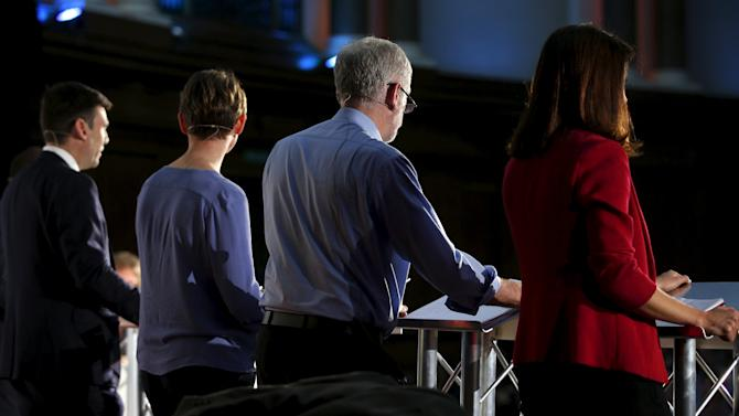Britain's Labour Party leadership candidates attend debate ahead of elections in central London