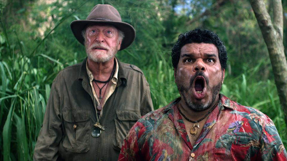 "In this image released by Warner Bros. Pictures, from left, Michael Caine and Luis Guzman are shown in a scene from ""Journey 2: The Mysterious Island."" (AP Photo/Warner Bros. Pictures, Ron Phillips)"