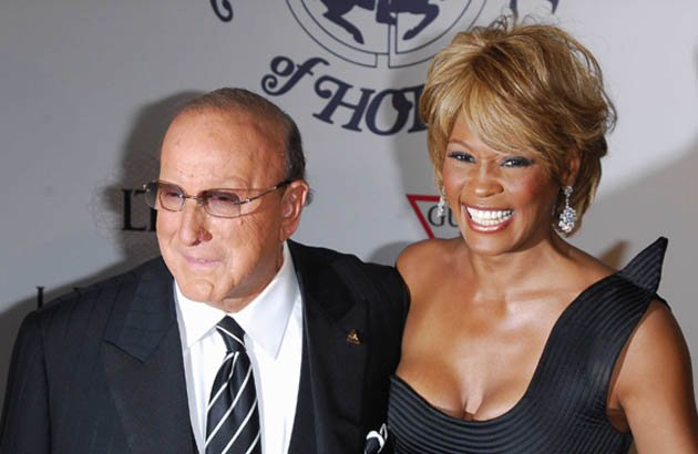 Whitney Houston mit Clive Davis