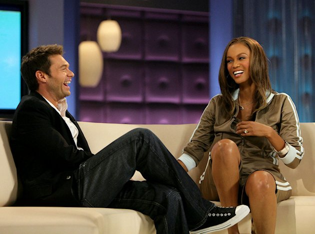 Ryan Seacrest visits The Tyra Banks Show on the CW.