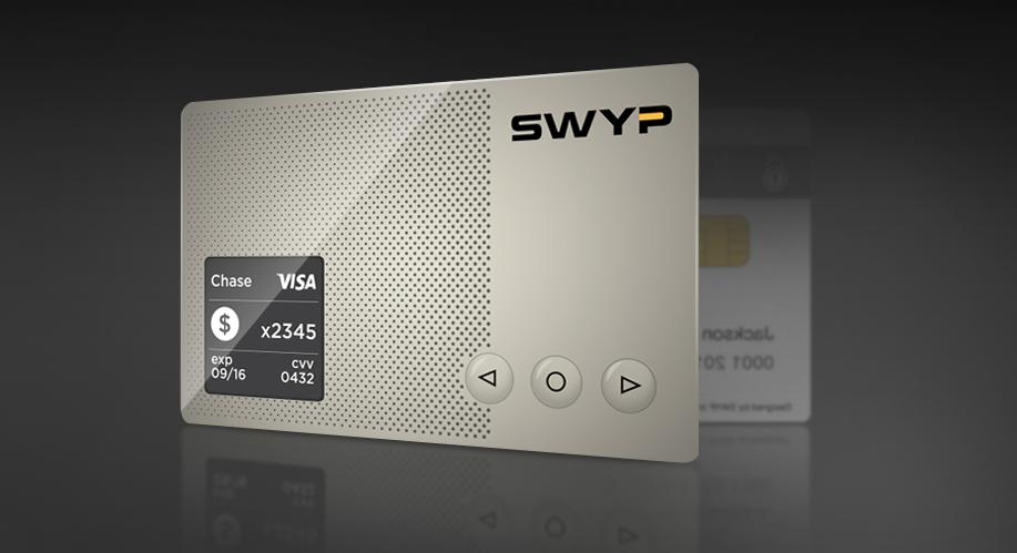 This is Swyp, the latest card that wants to store all your other credit cards