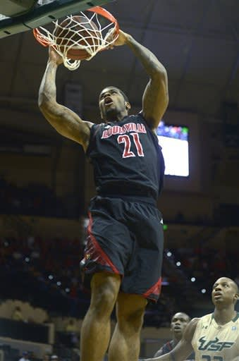 No. 12 Louisville shuts down South Florida 59-41