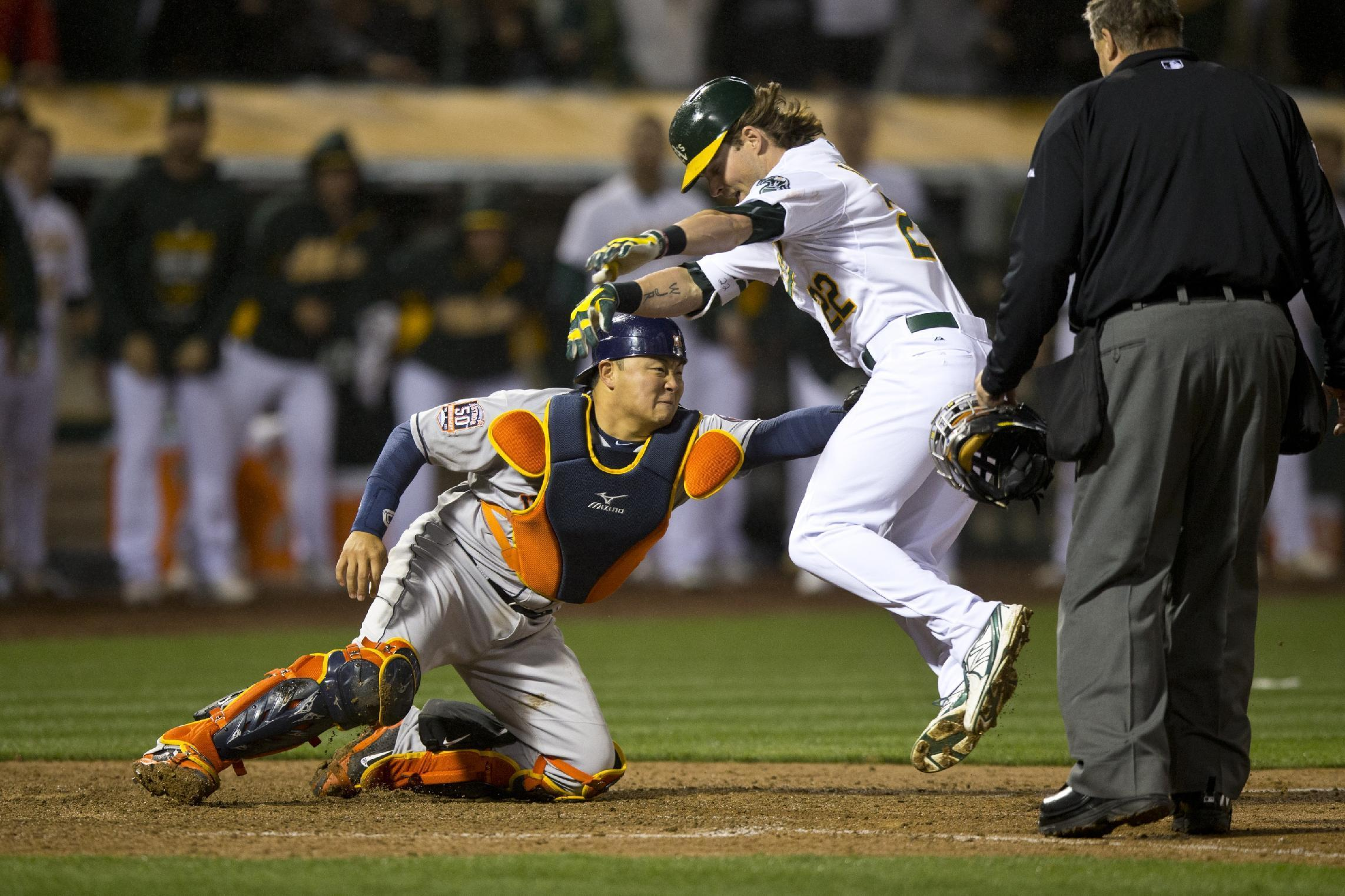 Josh Reddick nearly hit a walk-off Little League home run