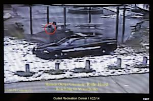 This still image taken from a surveillance video played …