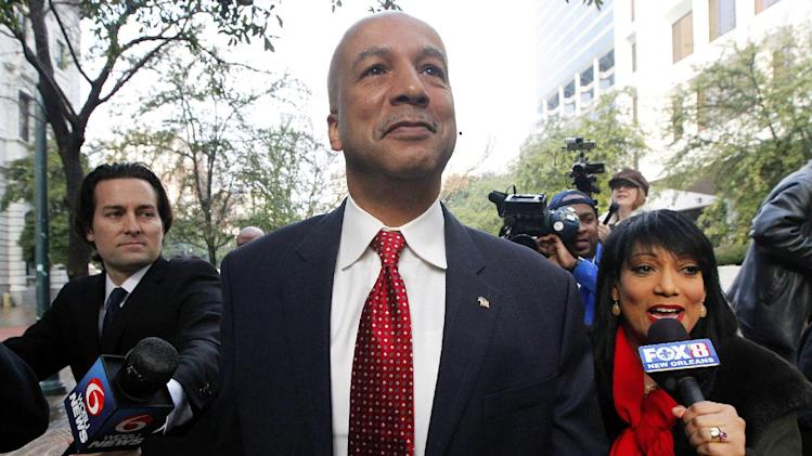 Former New Orleans Mayor Ray Nagin arrives at the Hale Boggs Federal Building in New Orleans, Monday, Jan. 27, 2014. Jury selection begins Monday in the trial of Nagin, who faces charges that he accepted bribes and free trips among other things from contractors in exchange for helping them secure millions of dollars in city work. (AP Photo/Jonathan Bachman)