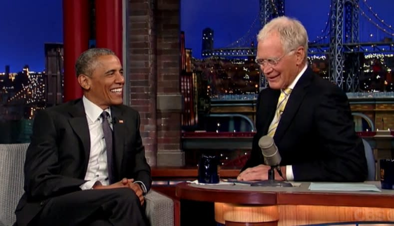 President Obama Makes Final 'Late Show With David Letterman' Appearance (Video)