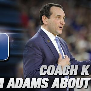 Coach K Discusses Beer with Reporter Named Sam Adams