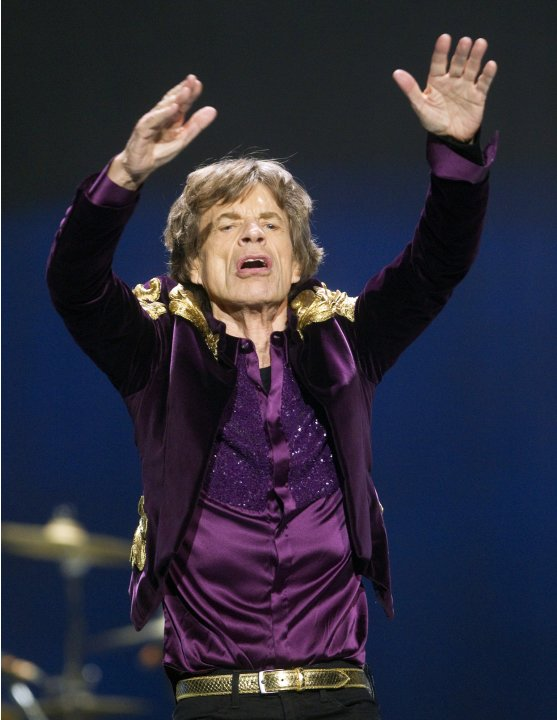 Mick Jagger of the Rolling Stones performs during The Rolling Stones 50 and Counting tour at the Air Canada Centre in Toronto