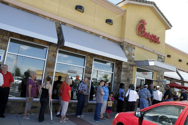 Chick-fil-A supporters turn out in droves for 'Appreciation Day'