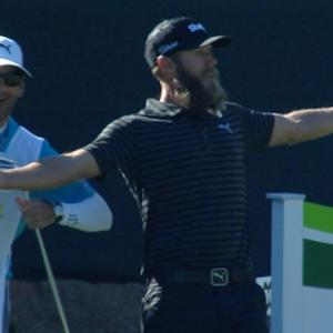 Graham DeLaet comes dangerously close on No. 16 at Waste Management