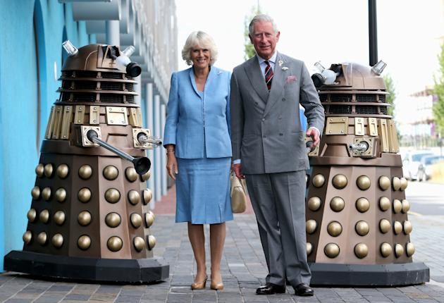 The Prince Of Wales & Duchess Of Cornwall Visit BBC Roath Lock Studios