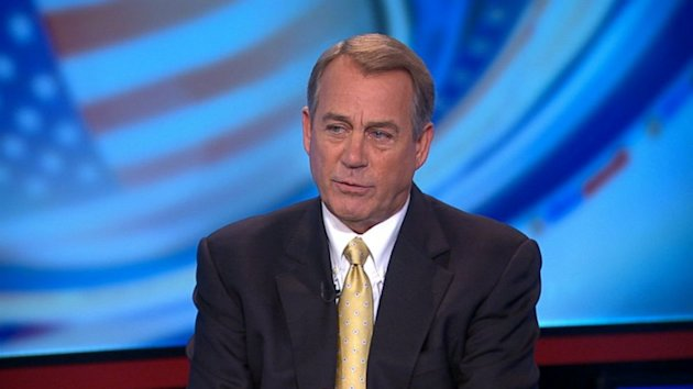 Boehner: No 'Clean' Votes on Reopening Government or Debt Ceiling Without Negotiations with President Obama (ABC News)
