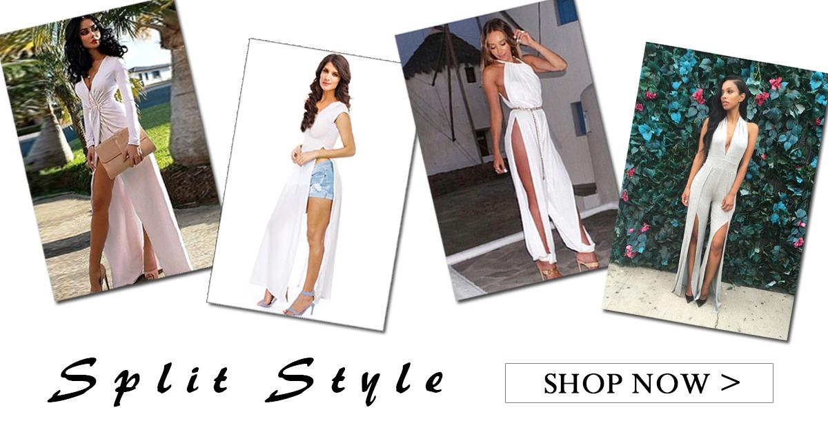 Ladies Split Style Sexy Dress,From $6.49!