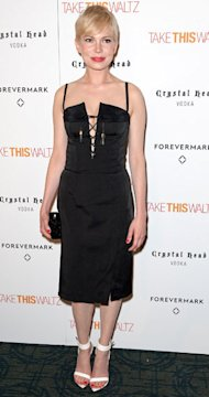 Michelle Williams in lace-up Altuzarra LBD for Take This Waltz screening – yay or nay?
