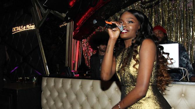 Azealia Banks performs at DETAILS @ Midnight LA with Azealia Banks on Wednesday, Nov. 14, 2012 in Los Angeles. (Photo by Matt Sayles/Invision for DETAILS Magazine/AP Images)
