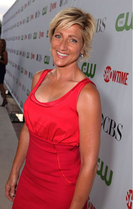 "Edie Falco (""Nurse Jackie"") arrives at the CBS, The CW, and Showtime 2009 TCA Summer Tour All-Star Party held at the Huntington Library on August 3, 2009 in Pasadena, California."