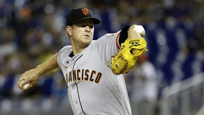 Cain, Blanco lead Giants over Marlins