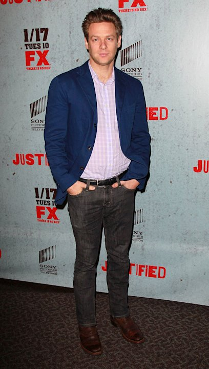 "Jacob Pitts attends the Season 3 premiere of FX's ""Justified"" at the Directors Guild on January 10, 2012 in Los Angeles, California."