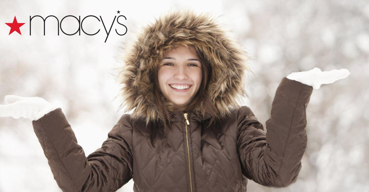 Macy's Coat Sale is Happening Now.