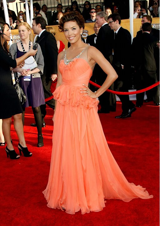 Eva Longoria-Parker arrives at the 15th Annual Screen Actors Guild Awards held at the Shrine Auditorium on January 25, 2009 in Los Angeles, California.