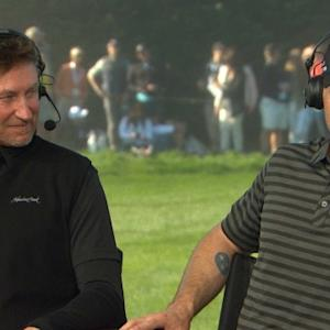 Wayne Gretzky and Jake Owen interview during Round 3 of AT&T Pebble Beach