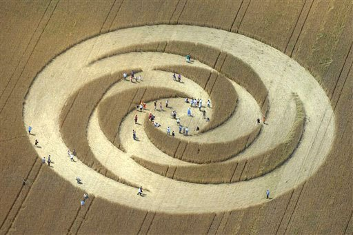 Click image to see more photos of crop circles. (AP Photo/Keystone/Sandro Campardo)