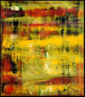 "This photo provided by Christie's Auction House shows a 1994 oil painting by German abstract painter Gerhard Richter entitled ""Abstraktes Bild."" The painting, currently owned by English guitarist and songwriter Eric Clapton, will be offered at auction by Christie's on November 12, 2013. (AP Photo/Christie's Auction House)"