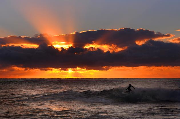 Dawn Surfing In Sydney