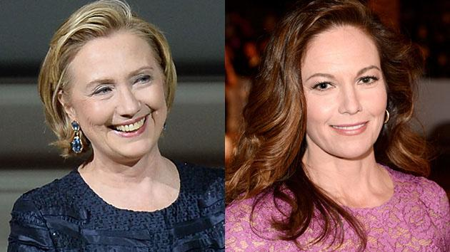 Hillary Clinton and Diane Lane